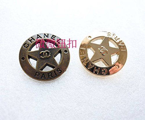 (22mm retro copper and gold metal buttons cashmere wool Coat sew clothing button sub-bis for Sewing Crafts Handmade Clothes DIY)