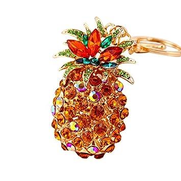 PomeLOL - Llavero con forma de piña con diamantes de ...