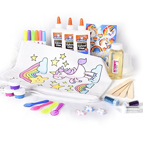 Mr. E=mc2 Unicorn Slime Kit | Includes All Slime Supplies to Make Your Own Fairy, Galaxy, Rainbow, Charm, Glitter Slime | Girls Stuff for Ultimate DIY Slime Set | Great Gift Idea