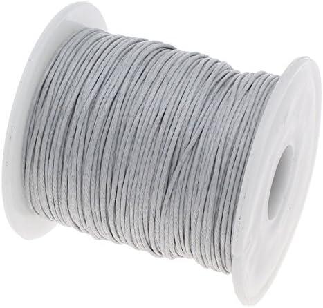 Perlin – 75 m de cordón de algodón encerado gris plata 1 mm encerado joyas cordones de cera hilos algodón cuerda de cera cera cuerda de perlas joyas fabricación: Amazon.es: Hogar