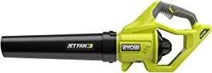 Ryobi RY40406BTL 40 Volt 110 MPH 500 CFM Cordless Jet Fan Leaf Blower 40V. Bare Tool (Battery and Charger NOT Included) …