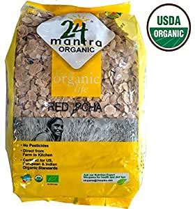 Organic Beaten Rice (Poha - Red) - 2 Lbs