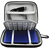 Lacdo EVA Shockproof Carrying Travel Case for Seagate Expansion Seagate Backup Plus Slim 1TB 2TB 4TB Portable External Hard Drive USB 3.0 2.5-Inch, GPS Camera and External Battery Pack
