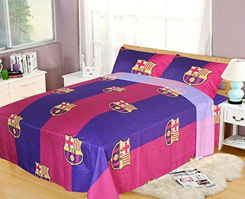 FCBarcelona Queen Size 4pc Sheet Set, Navy ()