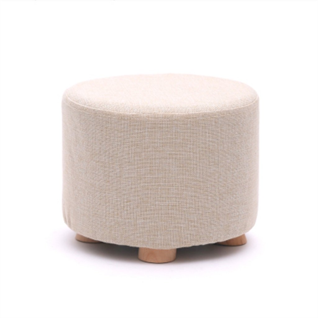 1 KXBYMX Solid Wood Home Stool Creative Living Room shoes Stool Fabric Sofa Stool Short Stool - Home Stool (color     6)