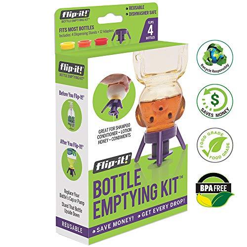 (Flip-It FL4X4APB Bottle Emptying Kit, Kitchen/All Purpose, 4-Pack)