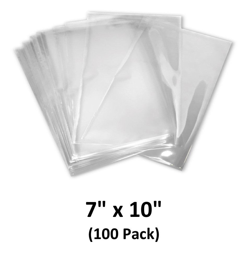7x10 inch Odorless, Clear, 100 Guage, PVC Heat Shrink Wrap Bags for Gifts, Packagaing, Homemade DIY Projects, Bath Bombs, Soaps, and Other Merchandise (100 Pack) | MagicWater Supply