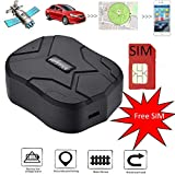 GPS Tracker with SIM Card, 【150days Long Standby】 GPS Tracking, Waterproof Real Time Tracking GPS Locator Professional Anti-Lost Alarm Car for Car Truck Moto Freezer Boat with Free APP