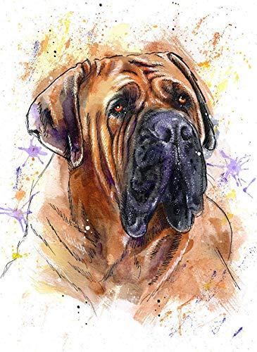 rcolor Art Print of Original Painting, Pet Themed Party Nursery Home Wall Decor, Gift for Dog Mom, Dad, Parent; Rainbow Bridge Pet Loss Sympathy Housewarming Memorial Gift ()