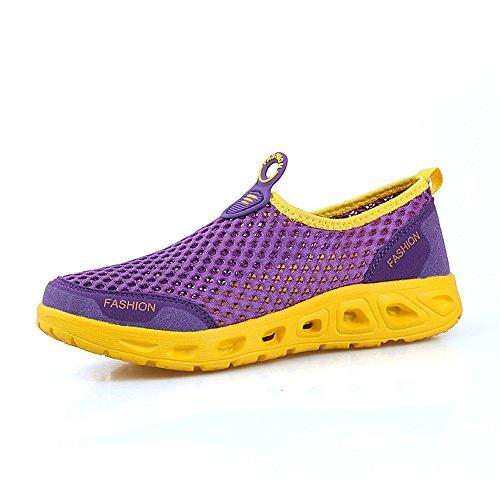 Men's Shoes Lightweight Casual Breathable FZDX Purple Fashion Walking Sport Sneaker Athletic 072 SqwAFpx