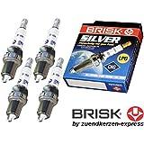 BRISK Silver DR15YS 1334 Bujías de Encendido Benzin LPG CNG Autogas, 4 piezas