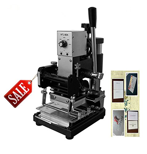 WTJ-90A Hot Foil Manual Plastic Card Stamping Embossing Machine Marking Press 220V/110V(hot stamping area:6x9cm) by Huanyu Instrument