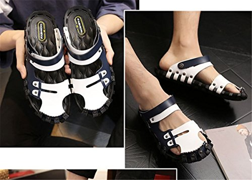 Mens Slippers Flat Toe Closed Blue BININBOX Sandals Polyurethane Shoes Soles dZnO7xdP