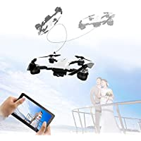 LUCKSTAR Mini Quadcopter - 2.4GHZ Remote Control UAV Aircraft Portable & Foldable RC Drone 3D Flip Quadcopter Headless Helicopter UAV - Cool Boys / Kids Toy (White)