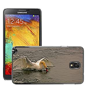 Etui Housse Coque de Protection Cover Rigide pour // M00117173 Aterrizaje del cisne agua Naturaleza // Samsung Galaxy Note 3 III N9000 N9002 N9005