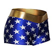 Blue and White Stars with a Gold Waist. Perfect for Cosplay.