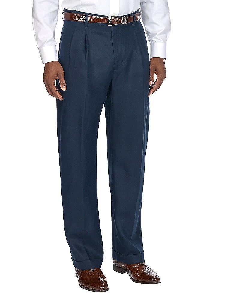 Paul Fredrick Men's Linen Pleated Pants PMN122N000000