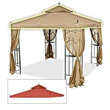 gazebo curtains home depot Replacement Canopy for Home Depot's Arrow Gazebo - Rip Lock - Terra Cotta