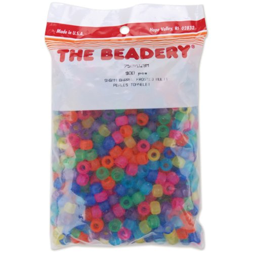 The Beadery Pony Beads 6x9mm, 900/Pkg: Frosted Multi