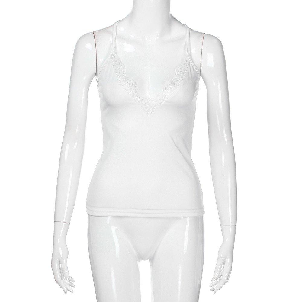 Sanyyanlsy Women/'s Deep V Neck Party Bodycon Tank Top Sleeveless Spaghetti Straps Vest Vintage Short Mini Solid