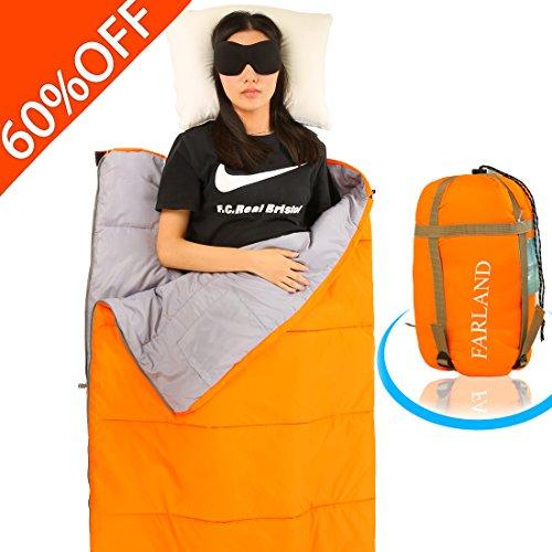 FARLAND Camping Sleeping Bag-EnvelopeMummy Outdoor Lightweight Portable Waterproof Perfect for 20...