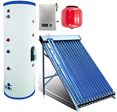 Duda Solar Water Heater Attached Pressurized Tank Evacuated Tubes Hot