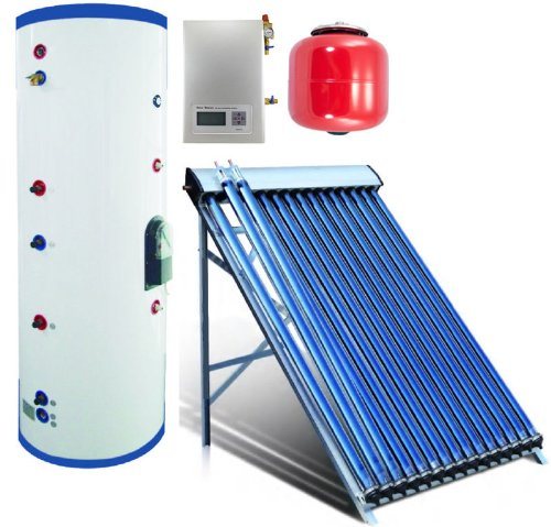 Duda Solar 300 Liter Water Heater Active Split System Dual Coil Tank Evacuated Vacuum Tubes Hot SRCC Certified