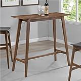 Coaster Mid-Century Modern Rectangular Bar Table, Walnut Finish