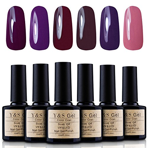 Yaoshun Gel Nail Polish Soak Off UV LED Nail Art Starter Kit