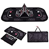 New 3in1 Folding 8 Player Blackjack Craps Poker Table Top & Carrying Case Black