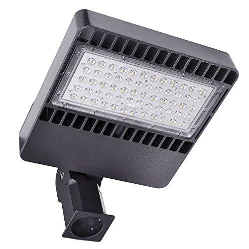 Kawell 150W LED Parking Lot Light, Led Shoebox Pole Light, 18000lm 5000k Street Light Free Dusk to Dawn Photocell Sensor Outdoor Waterproof Pole Mount Light for Large Area Lighting