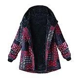 vintage cb radio - Franterd Women Coat Plus Size Women Long Sleeve Hooded Vintage Ethnic Fleece Thick Coats with Zipper Pockets M-XXXXXL