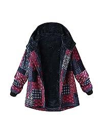 Amzeca Plus Size Women Hooded Coats Hoodies Sweatshirts Pullovers