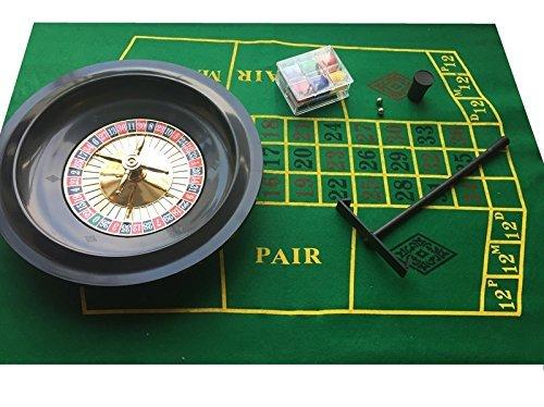 Marke New Roulette Set–Box mit Chips, Filz + Rechen SSTN