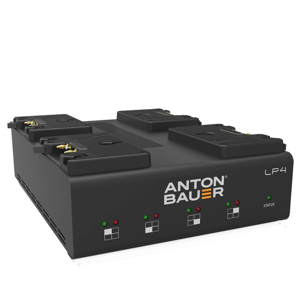 Anton Bauer lp4低プロファイルクアッドゴールドマウントpriority-based同時4-positionバッテリーPowercharger with LED表示   B00WNVO0S2