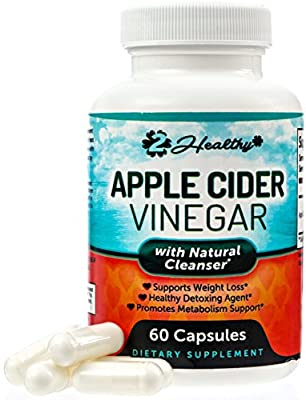 Premium Apple Cider Vinegar Pills - Natural Appetite Suppressant, Weight Loss Management, Detox Cleanse, Digestion & Circulation Support - Powerful 1250mg Capsules