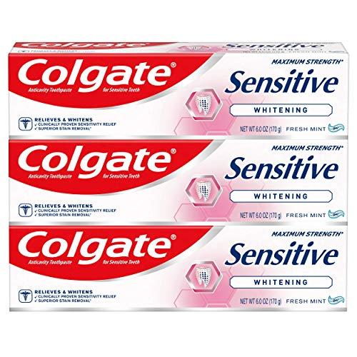 Colgate Sensitive Whitening Toothpaste for Sensitive...