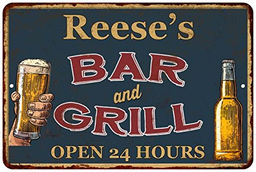Reese's Green Bar and Grill Open 24hrs Chic Sign Home Décor Gift G81204405 ()