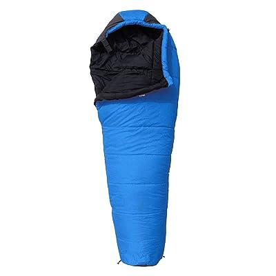 Xin.S Lumière Haute Densité Coton Camping Sacs De Couchage Momies Articles De Voyage En Plein Air Camping Sacs De Couchage Multifonctions (bleu Et Orange)