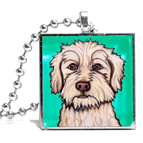 Pet Studio Art Terrier Mix Named Lamb Necklace