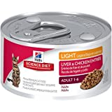 Hill's Science Diet Adult Light Liver and Chicken Entree Minced Cat Food, 3-Ounce Can, 24-Pack