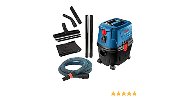 Bosch GAS 15 PS - Aspirador de agua y polvo 1100 W, 270 mbar 53 L/seg.: Amazon.es: Bricolaje y herramientas