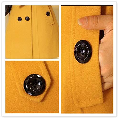 abrigo Todo manga el de 5 larga amarillo qa1Awvnx4n