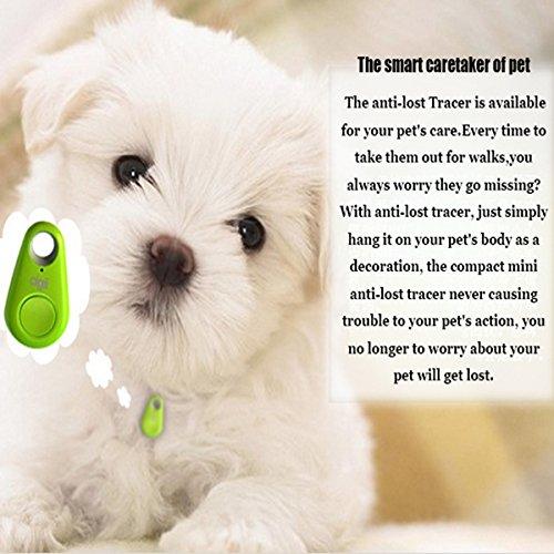 Amazon Pet Dog Anti Lost Tracker Smart Bluetooth GPS Tag Key Finder Locator Tracer Black Supplies