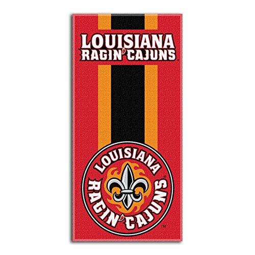 Northwest NCAA Louisiana Lafayette Ragin' Cajuns  Beach Towel,  30 x 60-inch (Lafayette Bath)