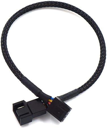 Wuyan 1pc 27/42/60 / 80cm PWM Cable de extensión Placa Base CPU 4 Pin Ventilador 4P Cable Adaptador Caja de la computadora 4 Pin Cables de alimentación Conectores, 1pc 80cm: Amazon.es: Hogar