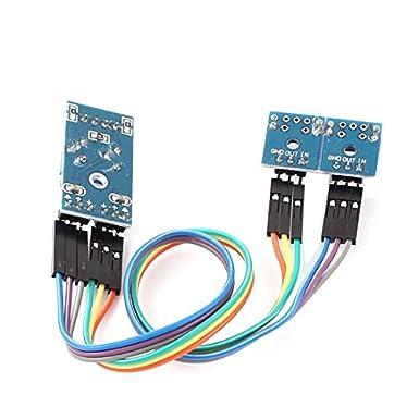Optical Switch eDealMax 2 Canales ranurados Detector de velocidad del módulo del Sensor de velocidad: Amazon.com: Industrial & Scientific