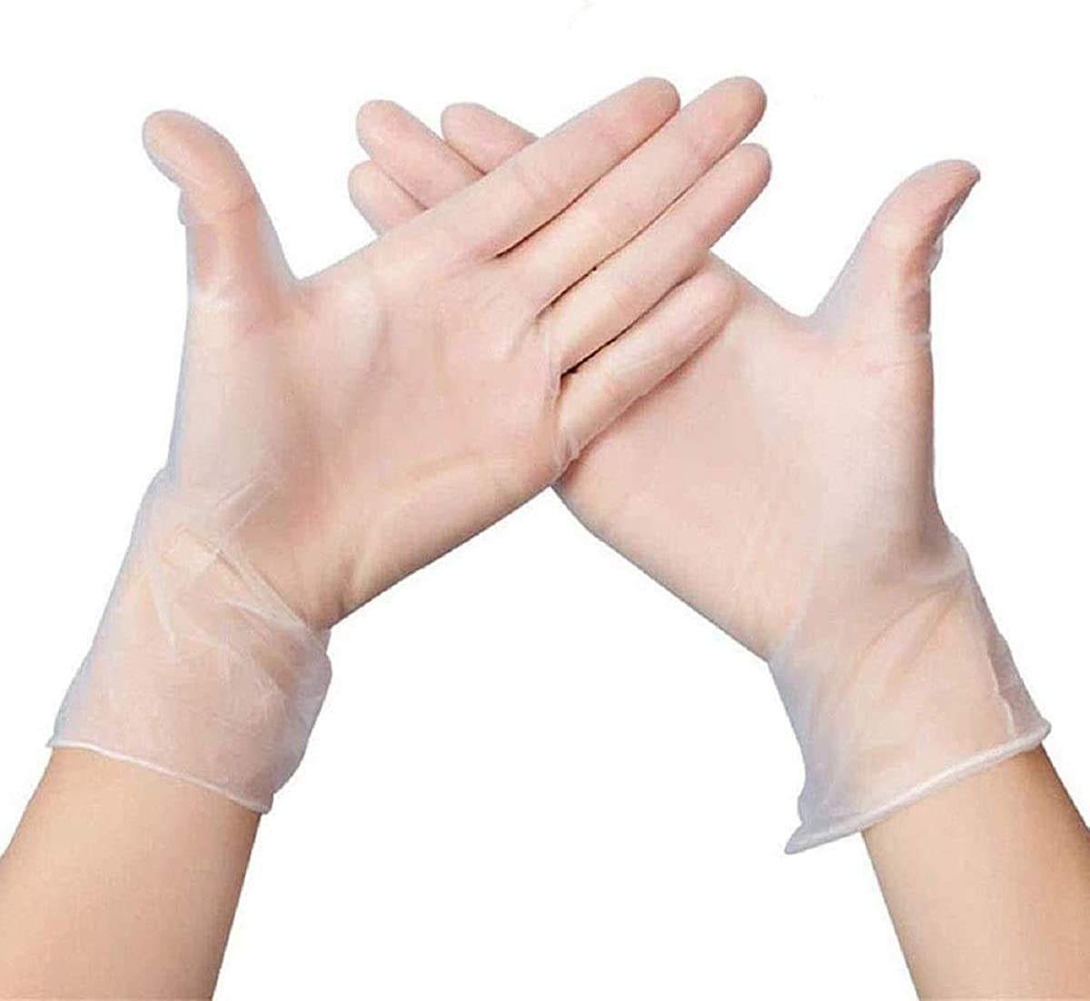 Soluo Nitrile Disposable Gloves | Latex and Powder Free | Disposable, Ultra-Strong, Clear | Food Handling Use