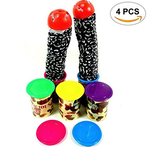Price comparison product image 4PCS Mseeur The Candy Tins Snake In A Can Gag Gift Prank Toy In Party Decoration Jokes With Horrible Screams (Random colors).