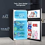TACKLIFE Compact Refrigerator 3.2 Cu.Ft, 2 Door